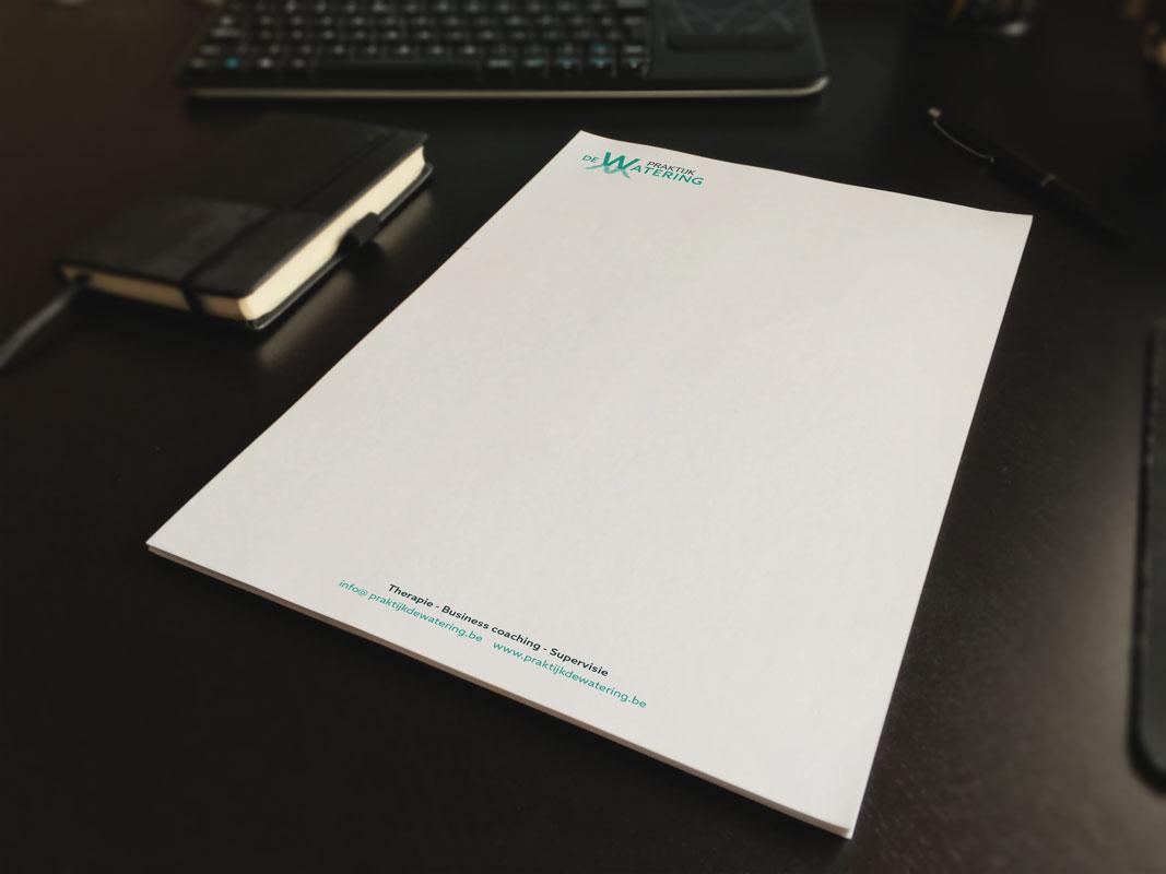 briefpapier praktijk de watering